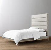 Pfeiffer Tall Upholstered Bed - Aged Brass