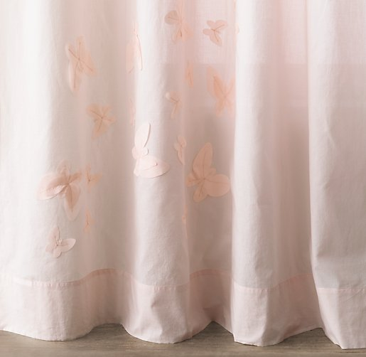 Floating Butterfly Voile Drapery Panel