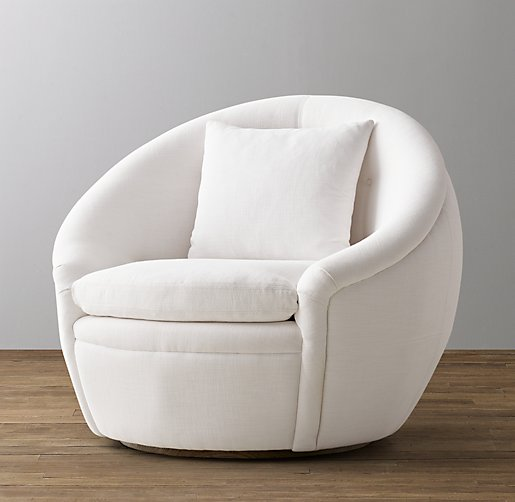 Oberon Upholstered Swivel Chair