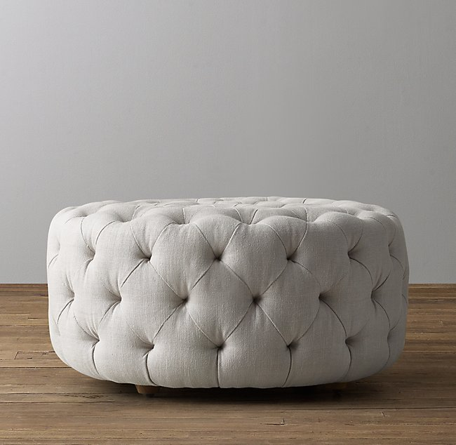 Remarkable Linden Tufted Round Ottoman Onthecornerstone Fun Painted Chair Ideas Images Onthecornerstoneorg