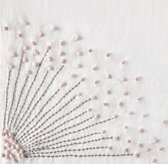 Hand-Embroidered Dandelion Bedding Swatch
