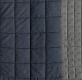 Heathered Chambray Quilted Bedding Swatch
