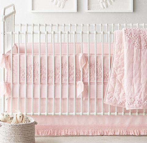 Amara Hand Embroidered Nursery Bedding Collection