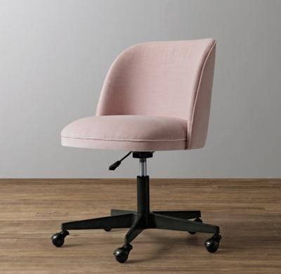 alessa velvet desk chair - graphite