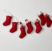 Wool Felt Stocking Advent Calendar - Red