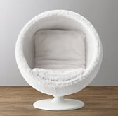 Orbit White Kashmir Faux Fur Chair