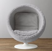 Orbit Grey Kashmir Faux Fur Chair