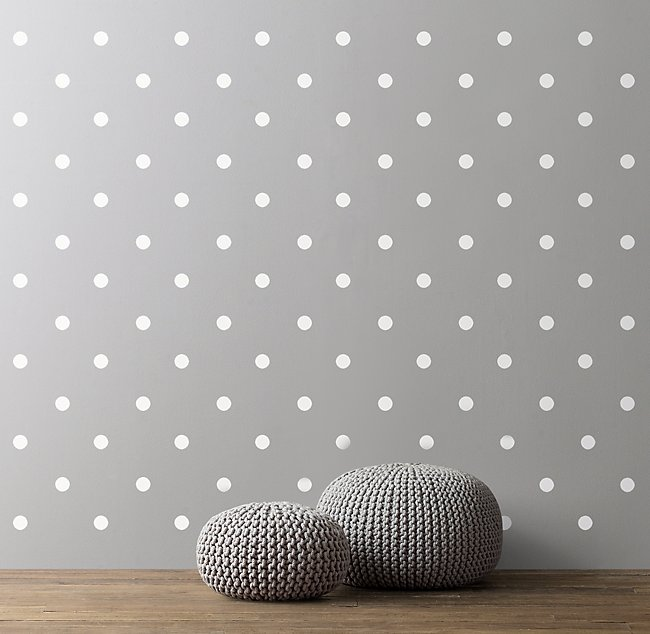 Pattern Play Wall Decal White Polka Dots