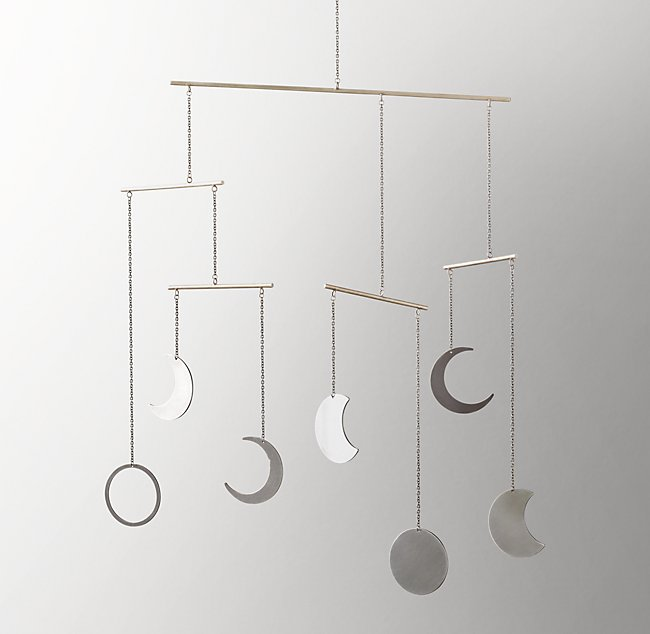 Moon Phase Mobile - Pewter