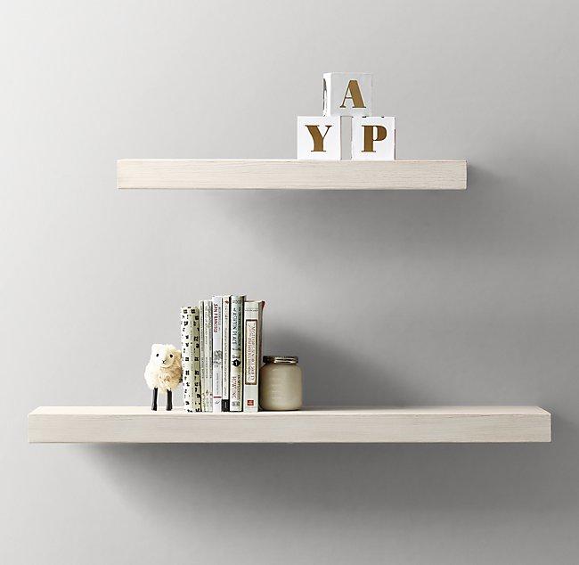 Phenomenal Floating Wood Shelf Heirloom White Beutiful Home Inspiration Ommitmahrainfo