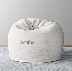 Free Shipping Scattered Dots Printed Canvas Bean Bag