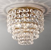 Soho Crystal Small Flushmount - Antiqued Brass