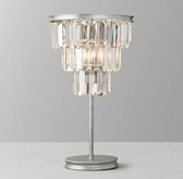 Alaine Crystal Table Lamp - Aged Silver