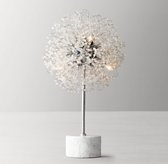 Josie Crystal Table Lamp - Aged Silver