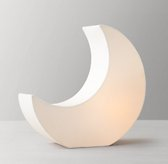 Celestial Linen Moon Accent Lamp