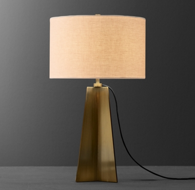 Dalton Tall Table Lamp With Shade Aged Brass Rh Baby And Child