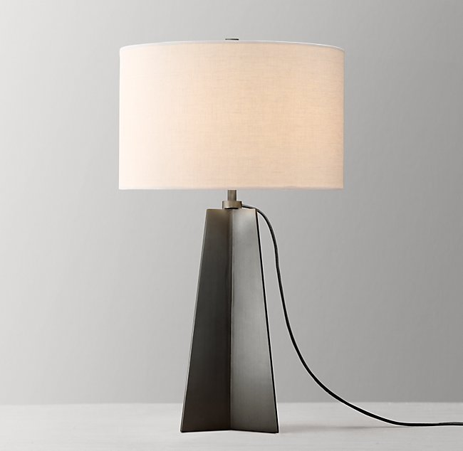 Dalton Tall Table Lamp With Shade Gunmetal