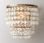 Soho Crystal Sconce - Antiqued Brass