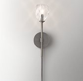 Penelope Clear Crystal Sconce - Brushed Graphite