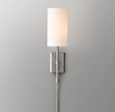 Clementine Sconce with Shade - Aged Pewter