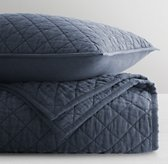 Washed Linen-Cotton Diamond Quilted Sham