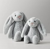 Jellycat® Plush Animal - Grey Bashful Bunny