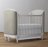 Belle Velvet Crib - Antique Grey Mist