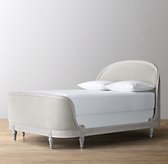 Belle Velvet Bed - Antique Grey Mist