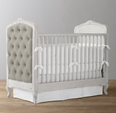 Colette Tufted Velvet Crib - Antique Grey Mist