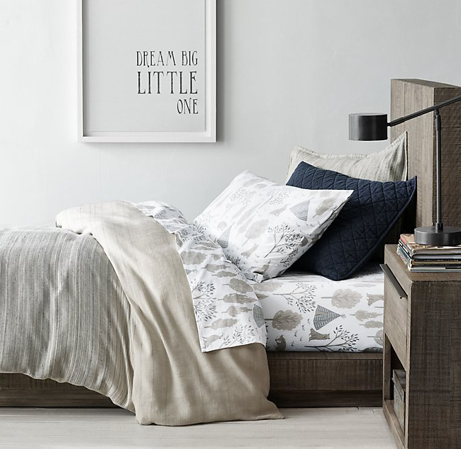 Rustic Weave Forest Wolf Percale, Wolf Bed In A Bag Queen