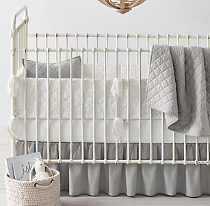 New Washed Linen Cotton Diamond Star Nursery Bedding Collection