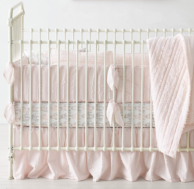 Frayed Voile Raj Elephant Percale Nursery Bedding Collection