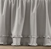 Vintage-Washed Ruffle Crib Skirt