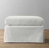 Belgian Slope Arm Velvet Ottoman Replacement Slipcover