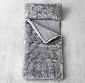 Luxe Faux Fur Sleeping Bag - Grey Wolf