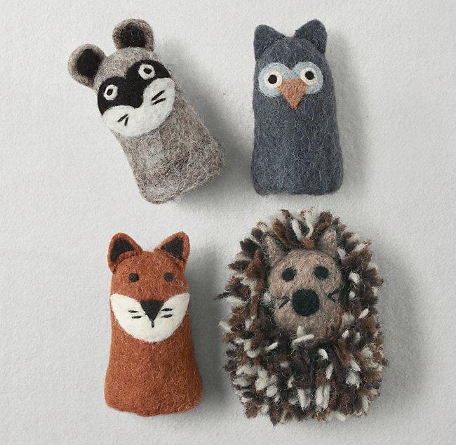 Handmade Wool Felt Animal Finger Puppet