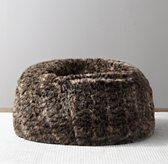 Luxe Faux Fur Bean Bag - Bobcat