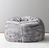 Luxe Faux Fur Bean Bag - Grey Wolf