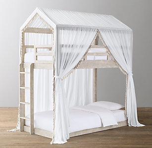 Cole Tassel Voile Canopy Bunk Bed Rh Baby Child