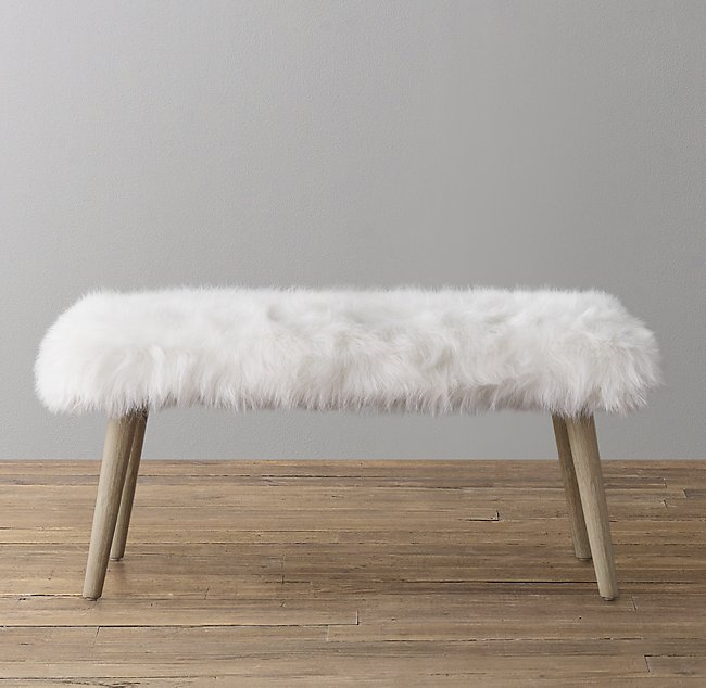 Cool Poppy Kashmir Faux Fur Bench Squirreltailoven Fun Painted Chair Ideas Images Squirreltailovenorg
