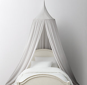 New Washed Voile Bed Canopy Mist
