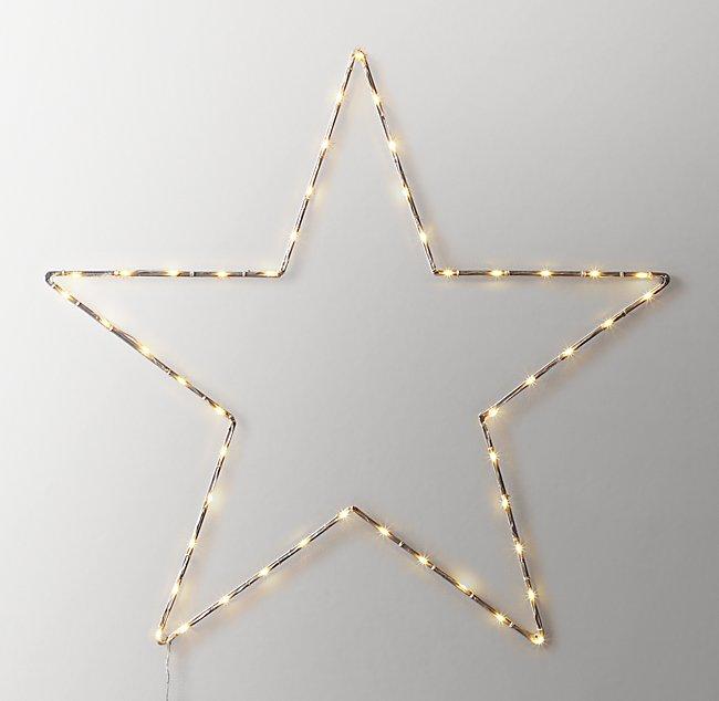 Starry Light Wall Décor Open Star