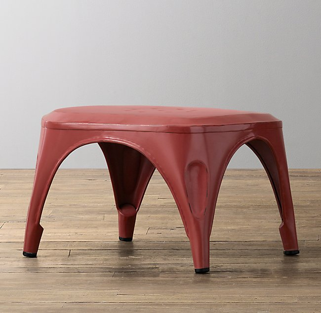 Peachy Vintage Steel Step Stool Distressed Red Ncnpc Chair Design For Home Ncnpcorg