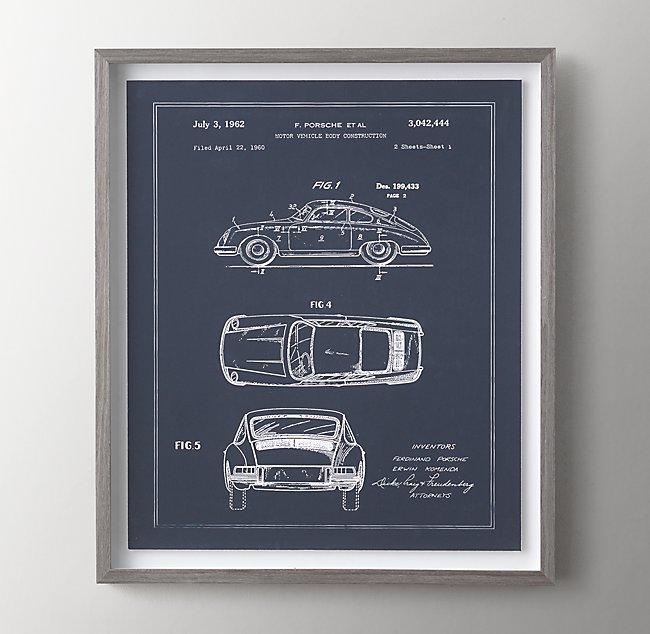 Vintage travel blueprint art 1962 car malvernweather Choice Image