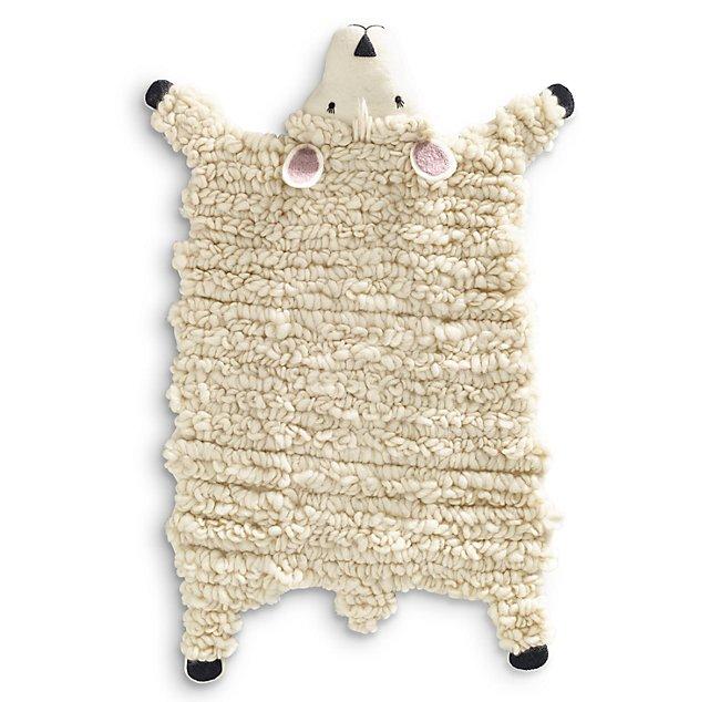 Handmade Wool Felt Animal Rug Lamb
