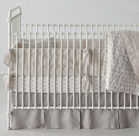 Washed Organic Linen Nursery Bedding