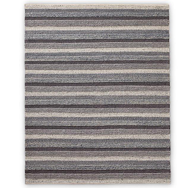Pattern Stripe Handwoven Wool Rug